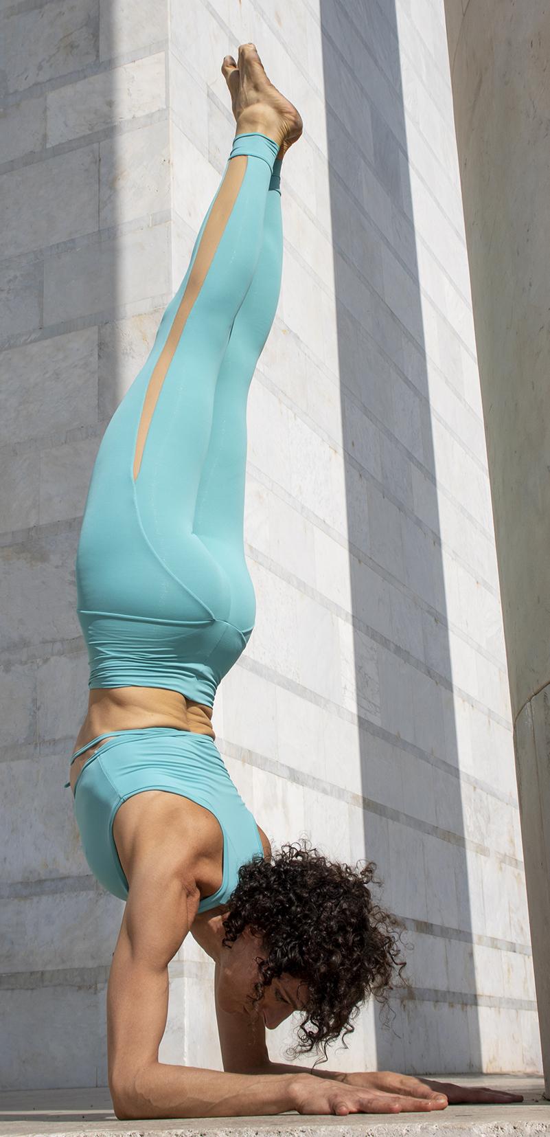 Completo Yoga Top Vega Leggings Olimpia Acqua