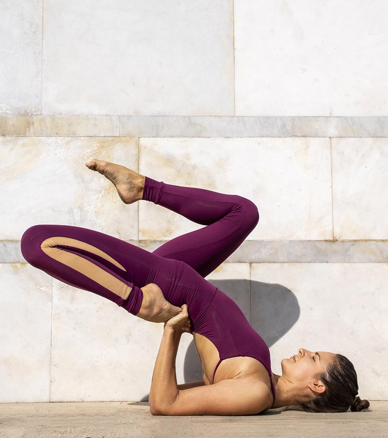 Completo Yoga Body Dalia Leggings Olimpia Fuoco