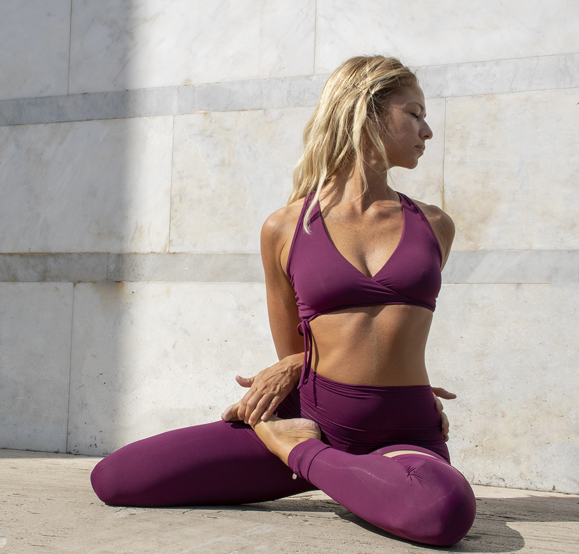 Outfit Yoga Fuoco