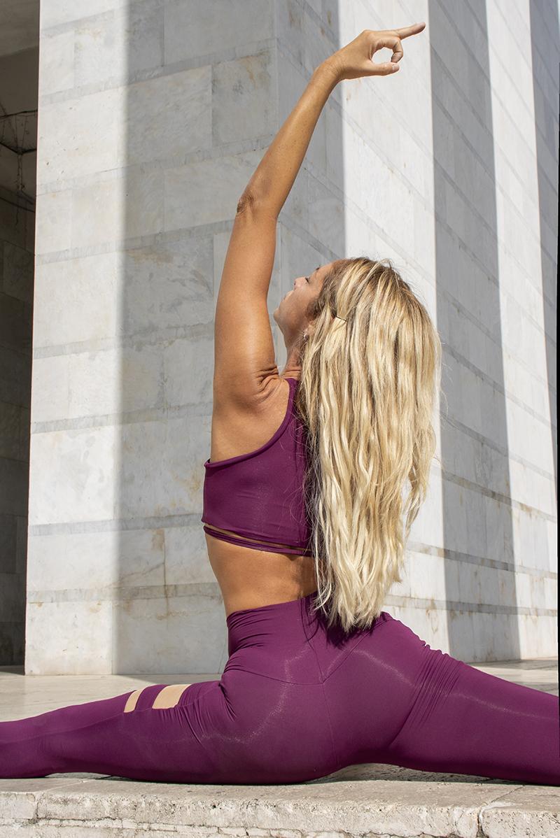 Completo Yoga Top Vega Leggings Aura Fuoco